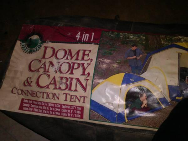 This is a dome canopy and cabin connection tent made by ozark trail. In good condition & 4 in 1 tent for Sale in Bennington Minnesota Classified ...