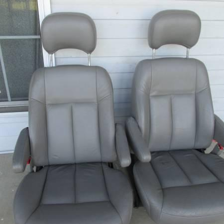 4 Leather Van Seats Chevy Venture Pontiac Montana Olds