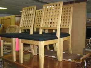 Etonnant 4 Maple Lattice Back Dining Chairs   $120 (Fairborn)