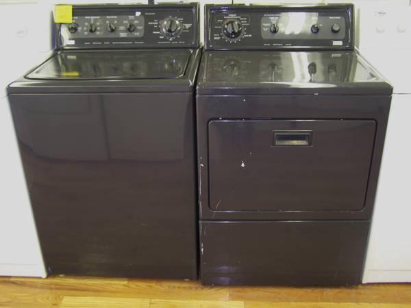 4 month warranty all black kenmore elite washer and dryer for Kenmore elite dryer motor