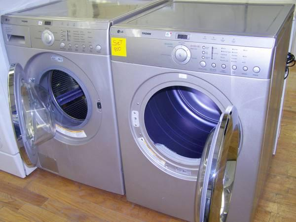 4 month warranty lg tromm used washer and dryer set 800