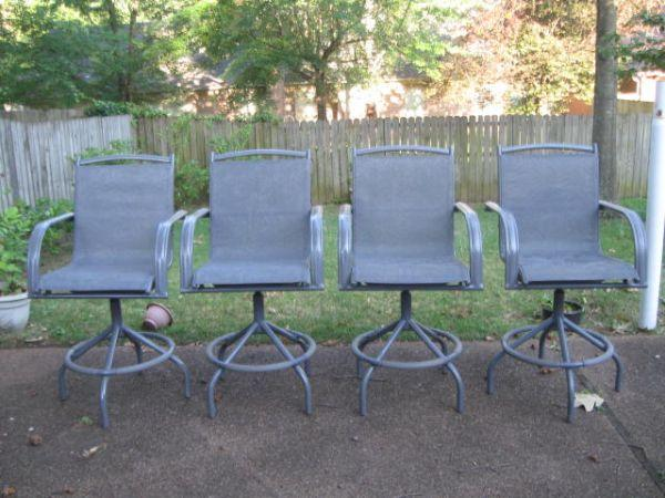 4 Patio Bar Stools Chairs BEST OFFER MUST SELL TODAY Hackscross Winche