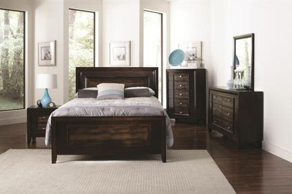 4 pc queen bedroom set in brown finish for sale in las for Bedroom furniture 89117