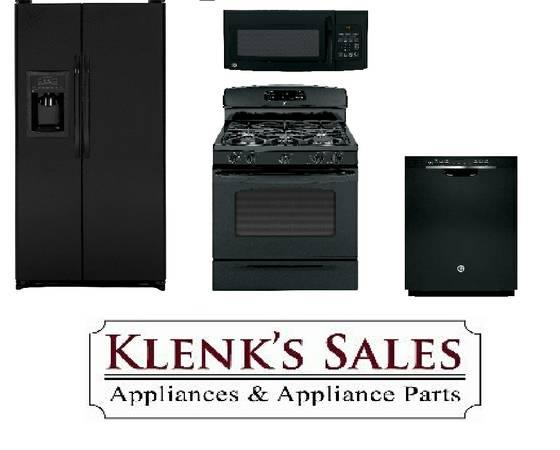 4 Piece Ge Black Kitchen Appliance Package Deal Quot Cf Quot For