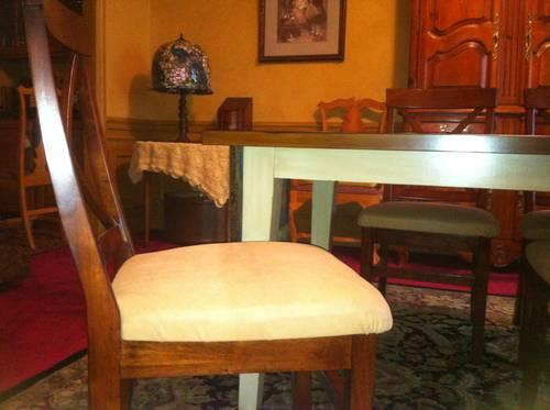 4 PIER 1 side chairs with soft leather seats - price is
