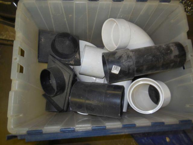 4 Shop Vacuum System Parts, 2 Blast Gates, 4 pipe and fittings...