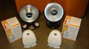 4 Space Heaters Soleus Air Oscillating Radiant Feature