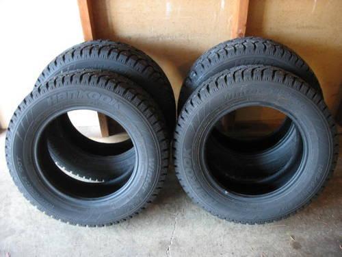4 studded winter tires for car only used last winter season for sale in beaverton oregon. Black Bedroom Furniture Sets. Home Design Ideas