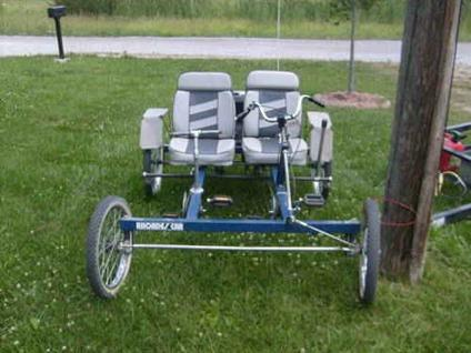 4 Wheel 2 Person Rhoades Car Bicycle With Motor For Sale In