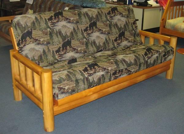 Down No Credit Check Financing On Tahoe Rustic Futon For