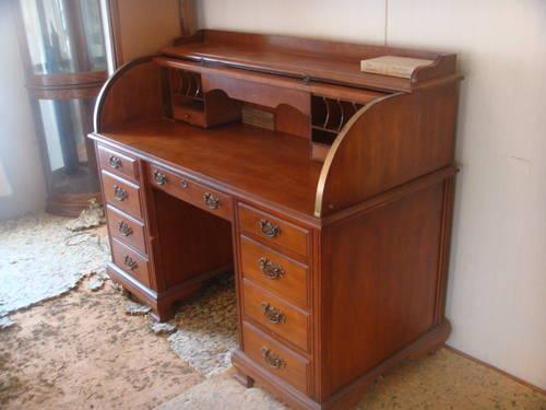 40 Off Rolltop Desk Amp Chair Oak By Jasper Cabinet Co