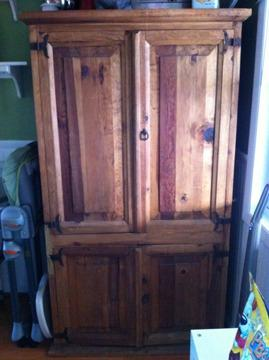 Mexican Pine Armoire Cabinet for Sale in Western Springs ...
