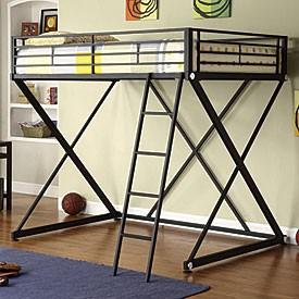 Obo full size metal loft bed for sale in zanesville ohio for Furniture zanesville ohio