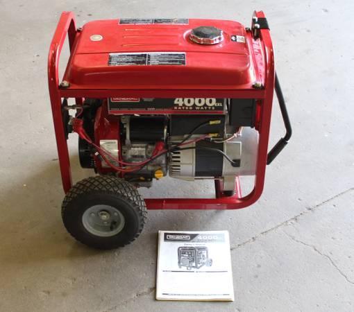 4000 Watt Generac Generator Portable Rv Farm Ranch