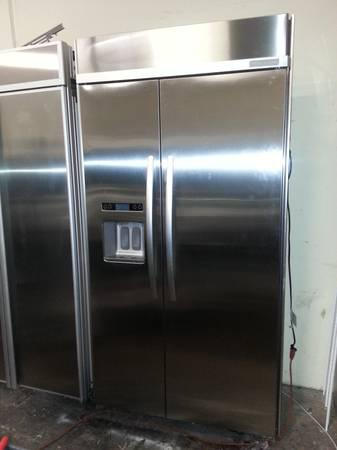 42 Inch Built Inn Refrigerator Kitchen Aid Stainless Steel