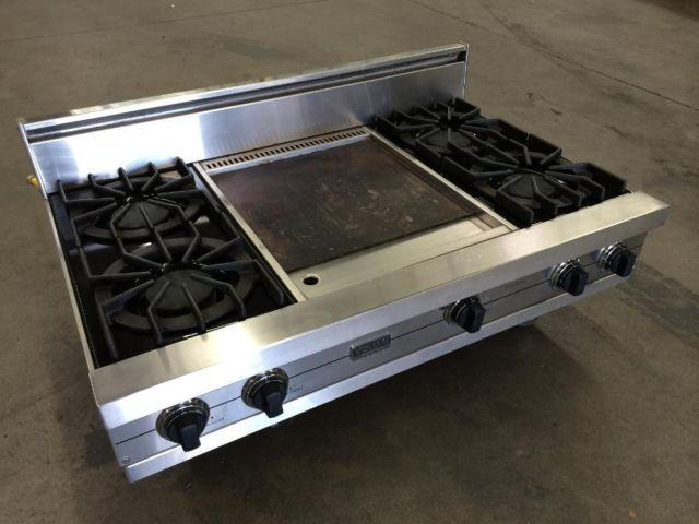 42 Inch Viking Professional Gas Cooktop With Griddle For