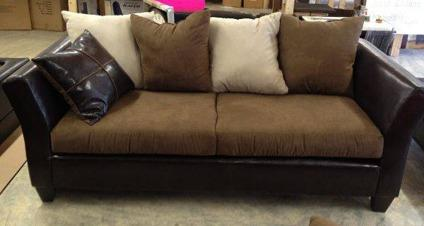 $425 Leather/Suede Sofa U0026 Loveseat