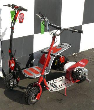 43cc 49cc GAS POWERED STANDUP SCOOTER down MOTOVO XSCOOTER