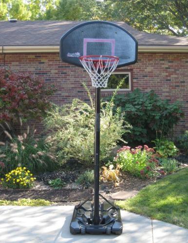 44 Pro Court Height Adjustable Portable Basketball Hoop