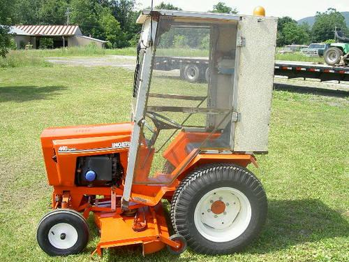446 Case Ingersol Hydrive tractor with mower, blade and snowblower ...