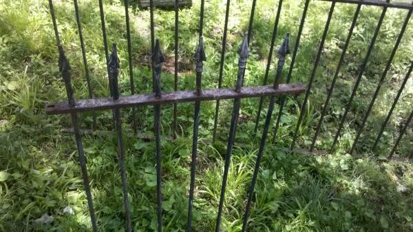 45 ft Antique Wrought Iron Cemetary Fence RARE - $500