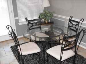 45 inch round glass top dining table with 4 chairs - $125 Collinsville