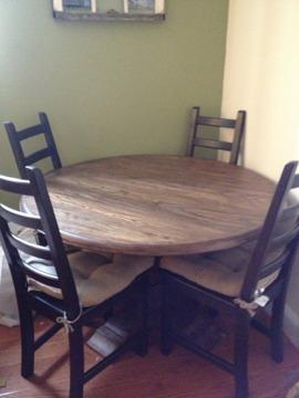 450 oboround wooden dining table for sale in brooklyn new york