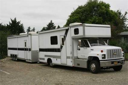 Travel Trailers For Sale Puyallup Wa >> 1991 Chevy. Kodiak Rv Conversion, W/33' Car Hauler Trailer (Puyallup, WA) for Sale in Puyallup ...