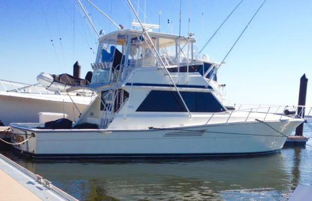 48 39 1989 viking convertible sportfish for sale in east for Viking fishing boat