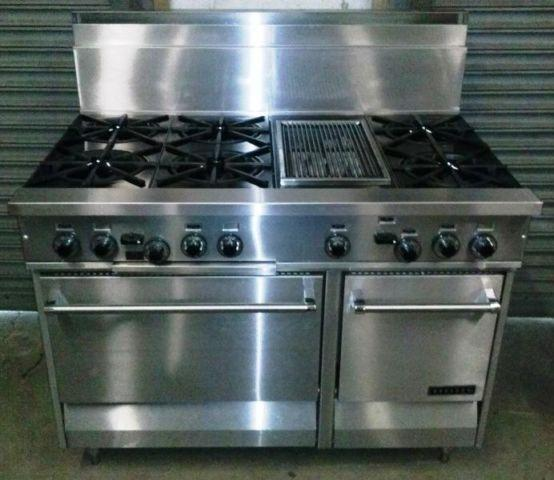 48 Garland Gas Range - 6 Burners - Infrared Grill - Stainless Steel
