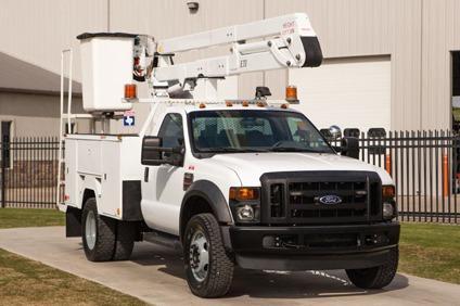 $49,900 ETI ETO37IH  2008 Ford F550 4X4 Bucket Truck - Stock  12845