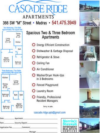 $495 / 2br   Cascade Ridge Apartments