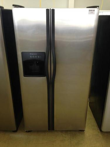 25 Cubic Foot Stainless Steel Frigidaire Side By Side