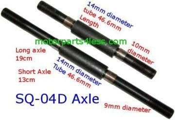 49cc X1 X2 Pocket bike axle - Front n Rear Axle