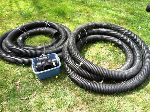 Inch perforated flexible french drain pipe 60 feet with connectors