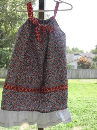 4th of July Little Girls Pillow Case Dress 4T - $15