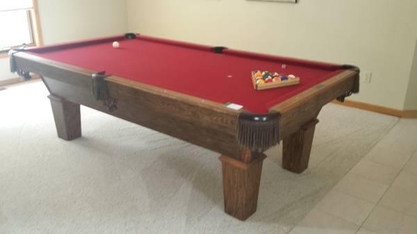4x8 Olhausen Pool Table New Felt   $800