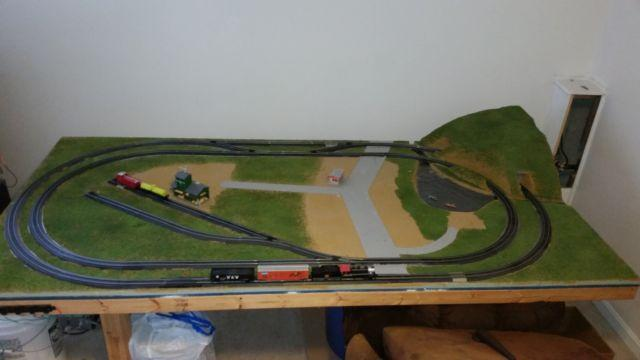 4x8 train table and HO scale train set for Sale in Winchester ...