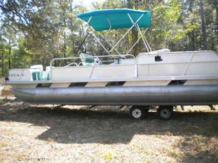 24 39 pontoon boat w 120hp johnson motor for sale in for Outboard motors for sale houston