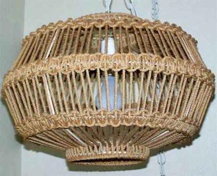 Macrame Hanging Lamp Wall Art Baskets Starting For