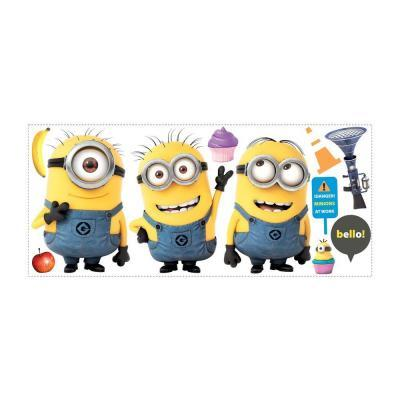 5 in. x 19 in. Despicable Me 2 Minions Giant Peel and