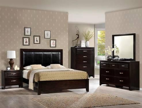 5 Pc Contemporary Queen Bedroom Set With Dresser Chest Mirror Ns For Sale In Houston Texas