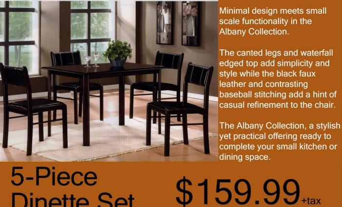 5 Pc Dinette Set Brand New And In Stock Liquidation Wholesale Furniture Outlet For Sale In