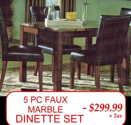 5 Pc Faux Marble Dining Set T 5pc Faux Pub Set Brand N