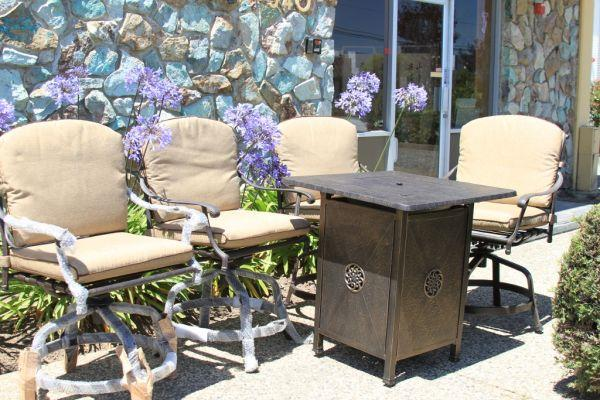5 Piece Gas Fire Pit Patio Furniture For Sale In Stockton California Class