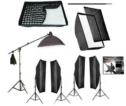 5 piece Soft Box Grid  Boom Light kit 5000 WATTS Studio Lighting MORE