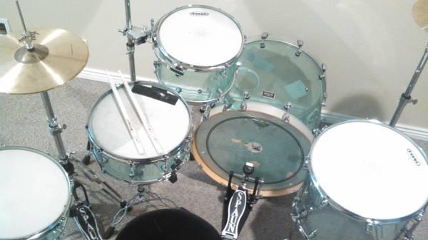 5 piece spaun drum set for sale in hagerman idaho classified. Black Bedroom Furniture Sets. Home Design Ideas