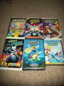 5 Pokemon Movies Vhs S And 1 Pokemon Dvd Concord Nc For Sale