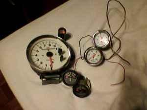 5'' Racing Tach,White Sunpro Gauges,Autometer Gauges (west