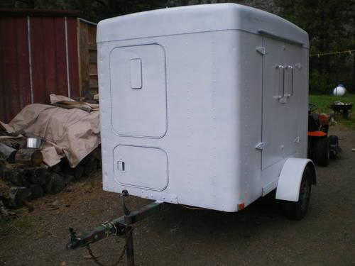 5 X 7 Enclosed Sleeper Cargo Trailer Very Unique For